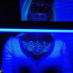 Chest UV Tattoo