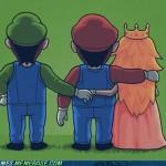 Mario Peach Luigi