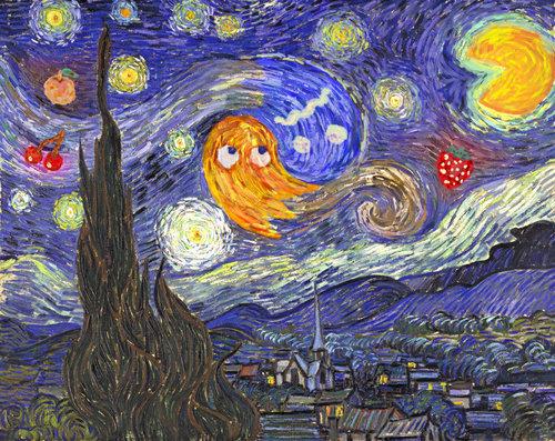 Pac-man Van Gogh