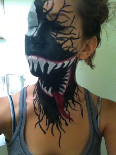 ca7a5878f The Most Insane Venom Makeup You've Ever Seen - Walyou
