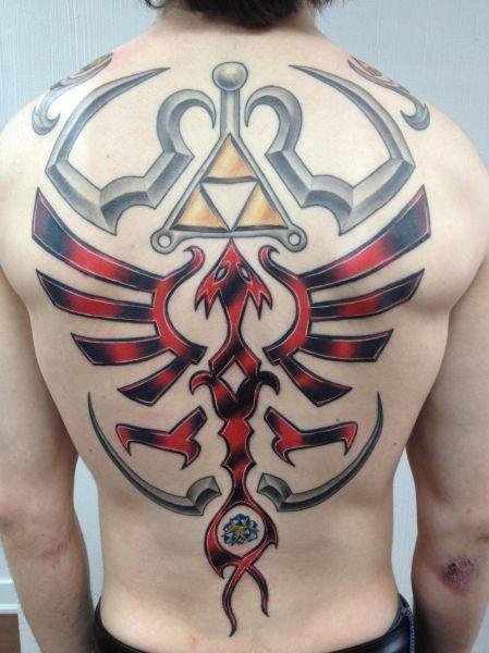 Zelda Back Tattoo