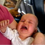 baby crying on plane