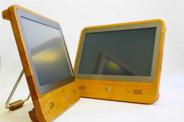 Computer made out of wood