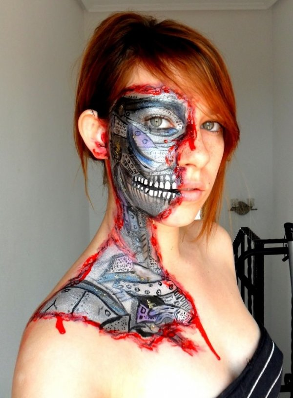 Cyborg-Face-Paint