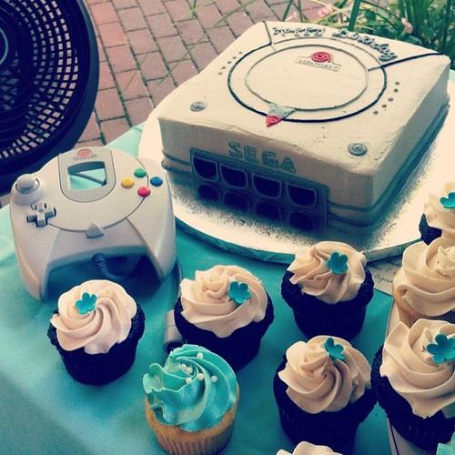 Dreamcast cake by Rebecca Sugar