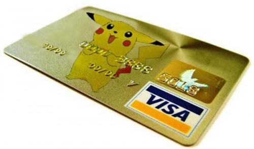 Pikachu Credit Card
