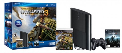 PlayStation 3 Super Slim Uncharted 3 bundle image
