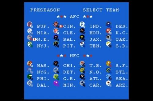 Tecmo Super Bowl 2013 teams image
