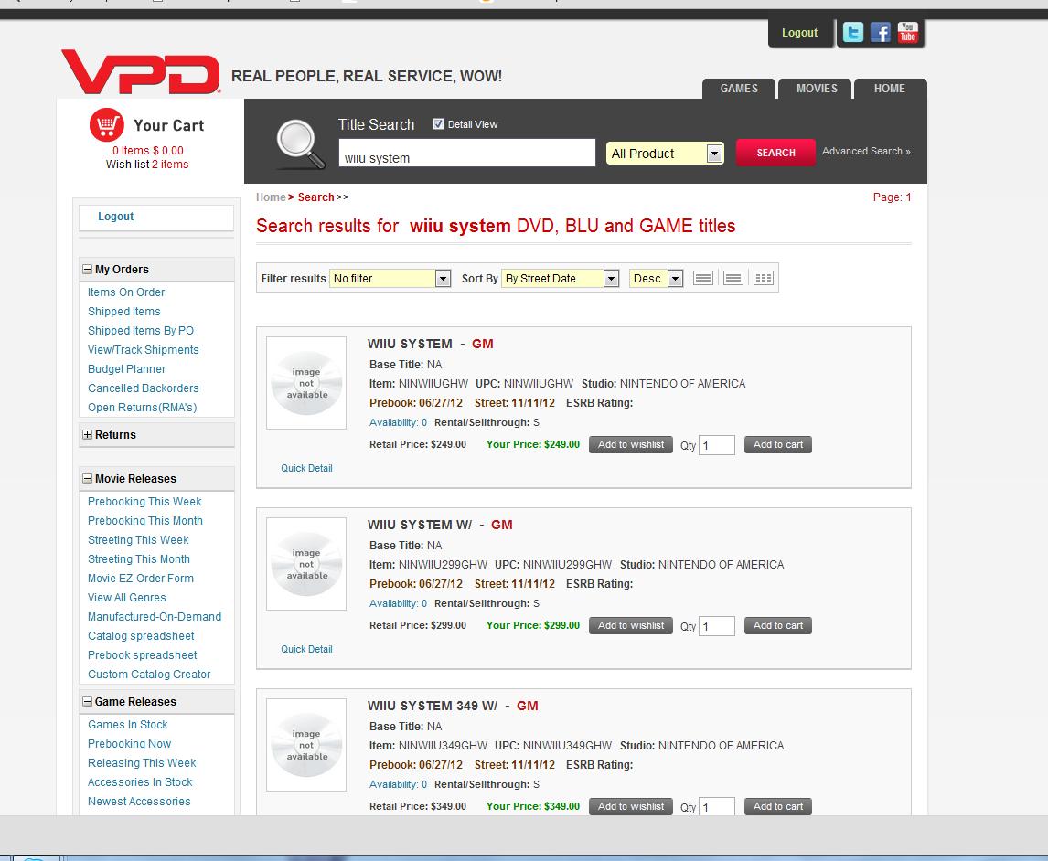 VPD Wii U listing screen image
