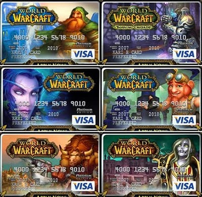 World Of Warcraft Credit Card