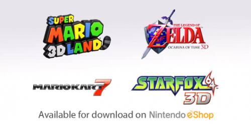 3ds Super Mario 3D Land Zelda Star Fox retail downloads Image