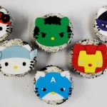 Hello Kitty Avengers Cupcakes