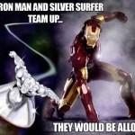 Iron man silver surfer