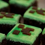 Minecraft creeper cake bars