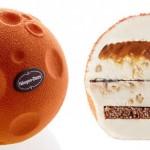 Moon Shaped Ice Cream Cake