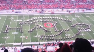 Ohio State Performs Tribute To Videogames Show During Halftime image