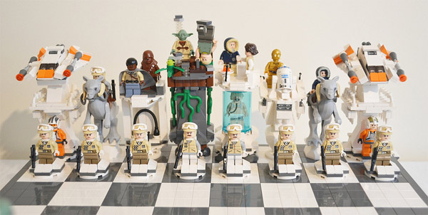 Rebel side of Star Wars chess set
