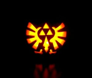 zelda triforce pumpkinby by Giluc