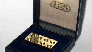 14k Solid Gold LEGO Brick