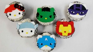 Hello Kitty Avengers Cupcakes (2)