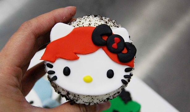 Hello Kitty Avengers Cupcakes (4)