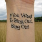 If you want to sing out sing out