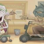 Old Batman & Joker