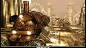 Passage_IgnisFerroque-Steampunk-train