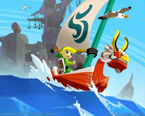 The Legend of Zelda The Wind Waker sailing Link image