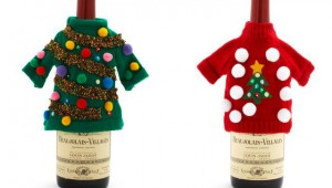 Ugly Christmas Sweater Wine Bottle Covers