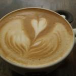 Floating Heart Latte by MonkDrew Andrew Alcala