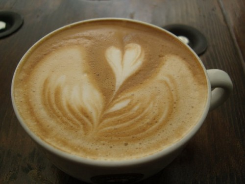 Floating Heart Latte by MonkDrew Andrew Alcala