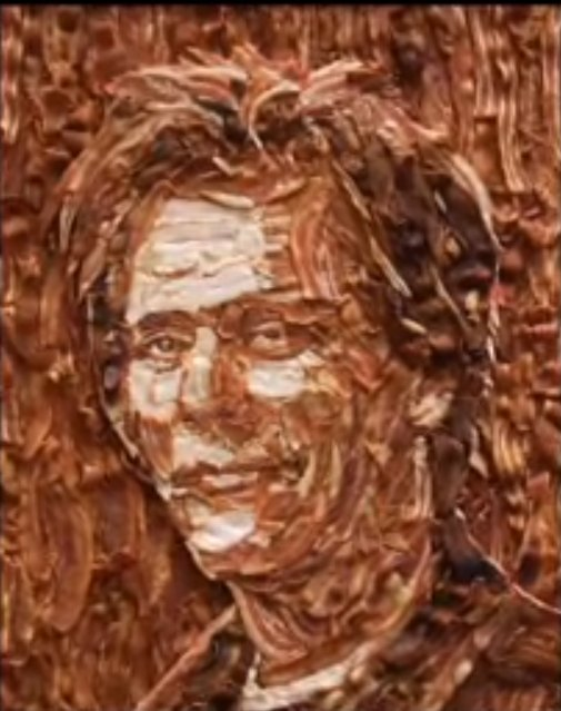 Kevin Bacon Food Portrait
