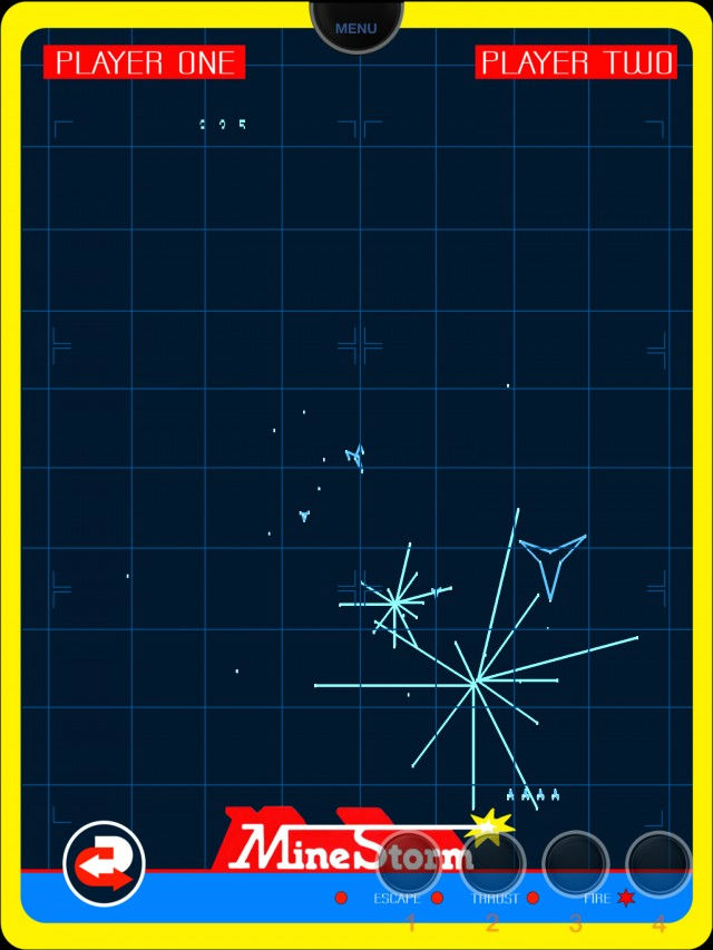 Screenshot of Vectrex emulator