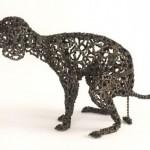 bicycle dog sculpture 2