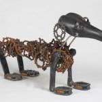 bicycle dog sculpture 4