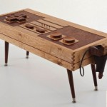 Bohemian Workbench Wooden NES Controller Coffee Table