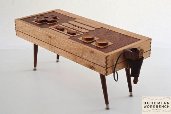 Controller Coffee Table.Bohemian Workbench Wooden Nes Controller Coffee Table