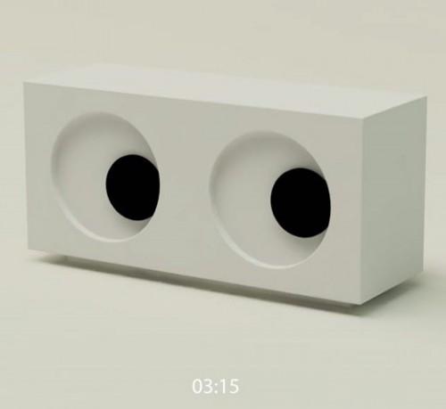 Googly eye clock