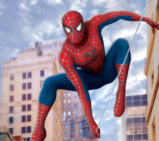 Spider-Man jumping