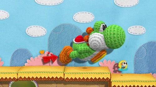 Wii U Yoshi Yarn first pic image
