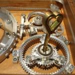 heart keys in jewelry box lock