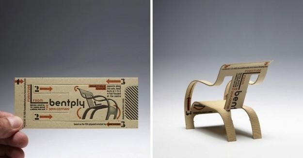 Balsa Wood Card-Chair