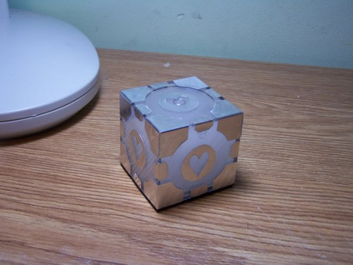 Companion Cube Light off by Nathan Van Kampen image