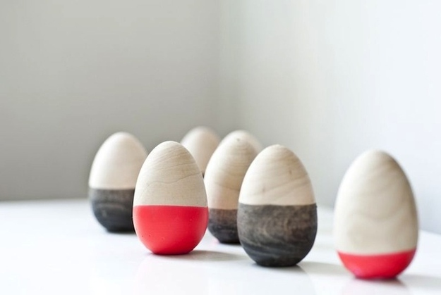 Dipped Wooden Easter Eggs