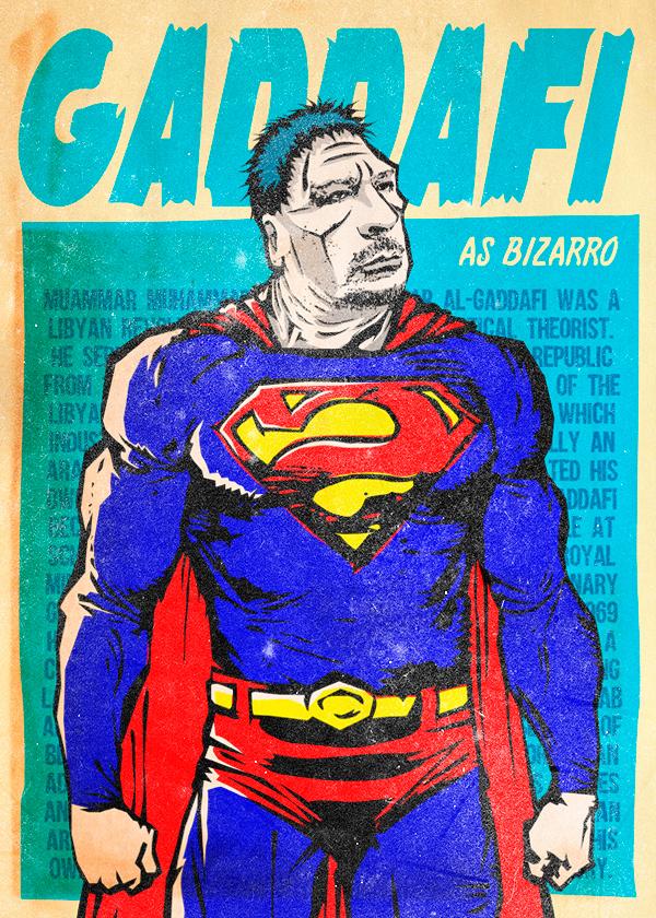 Gadaffi Bizarro