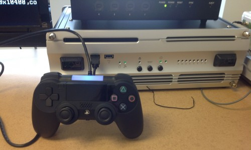 PlayStation 4 dev kit and controller prototype image