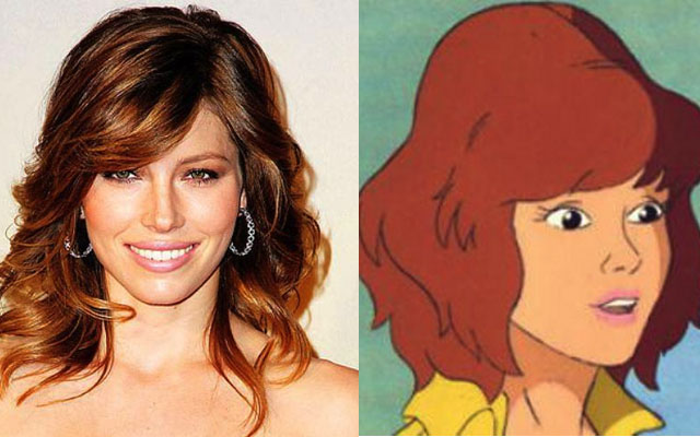 Jessica Biel as April O'Neil Alternative