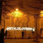 Metal Gear Rising Revengeance Murals In Liverpool at night image