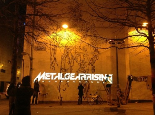 Metal Gear Rising Revengeance Murals In Liverpool at night image